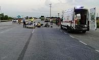Alanya'da motosiklet otomobile arkadan çarptı: 1 yaralı