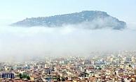 Alanya'yı nem bulutları kapladı
