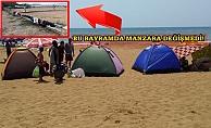 Alanya'da turistik plajlar çadır kente dönüştü!