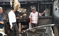 Evleri yanan ailelerin ihtiyaçları karşılanıyor