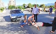 Mahmutlar'da feci kaza! motosiklet sürücüsü ağır yaralandı