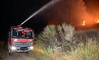 Makilik alanda yangın çıktı