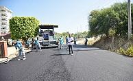 Okurcalar'a sıcak asfalt