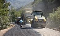 Sapadere Kanyon yolu asfaltlandı