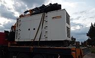6 tonluk jeneratörü vince yükleyip çalan şahıs Alanya'da yakalandı