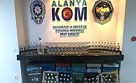 Alanya'da kaçak içki operasyonu!