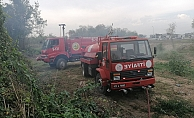 Çalılık alanda yangın paniği!