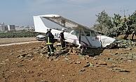 Eğitim uçağı kaza yaptı! Pilot yara almadan kurtuldu