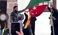 Türk bayrağına alçak saldırı!