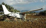 Yoldan çıkan uçak pilotunun yalanı jandarmaya takıldı
