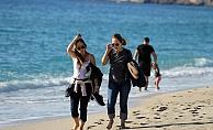 Alanya'da Kasım'da deniz keyfi