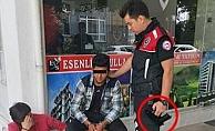 Alanya'da okul önünde kuru sıkı tabancayla yakalandı!