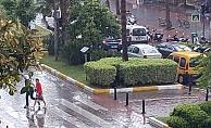 Alanya güne yağmurla başladı