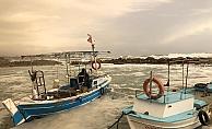 Alanya'da balıkçıların fırtına nöbeti!
