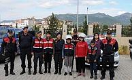 Alanya'da özel eğitim öğrencilerin jandarma ziyareti