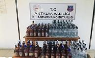 Alanya'da 85 bin TL değerinde kaçak içki ele geçirildi