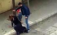 Sokak ortasından eşinden şiddet gören kadın evine geri döndü!