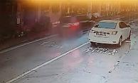 Yaya geçidinde çarptığı kadını metrelerce öteye fırlattı