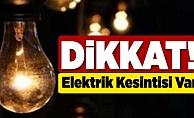 Alanya'da bu mahallelerde elektrik kesintisi var