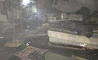 Alanya'da muz deposunda yangın çıktı