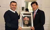 Başkan Yücel'e Japon misafir