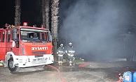 Otel deposundaki yangın korkuttu