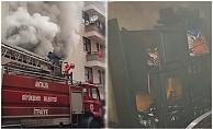 Alanya'da korkutan yangın!