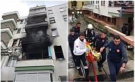 Alanya'da yangında alevlerin arasında kalan ev sahibi ağır yaralandı