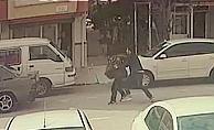 Kaçan klima hırsızını adeta uçarak yakaladı