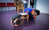 Kreş öğrencilerine afet eğitimi