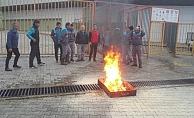 Oba'da yangın tatbikatı