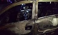 Park halindeki otomobil yandı
