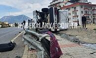 Alanya'da feci kazada yaralanan kişi hayatını kaybetti!