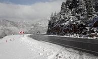Alanya-Konya karayolu kar yağışına teslim oldu!