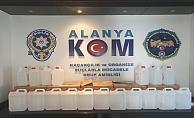 Alanya'da 120 kilo etil alkol ele geçirildi!