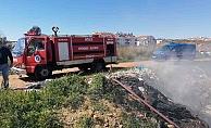 Çöplük alanda yangın çıktı