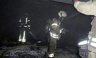 Otoparkta araçlar yandı, sahipleri birbirine girdi