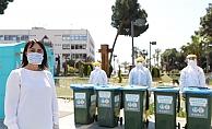 Alanya Belediyesi'nden atık maske ve eldivene önlem!