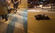 Alanya'da 2 motosiklet birbiriyle çarpıştı!