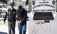 Alanya'da 5 ayrı villadan hırsızlık yapan şüpheli tutuklandı