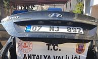 Alanya'da şüpheli araçtan 154 kök Hint keneviri çıktı
