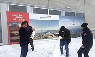 Antalya'nın zirvesine kar düştü