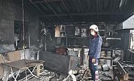 Gazipaşa'da yangın! İşyeri küle döndü
