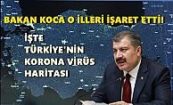 İşte Türkiye'nin korona virüs haritası