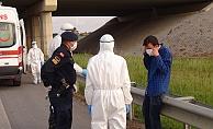 Jandarma ve sağlıkçıların güçlükle ikna ettiği korona şüphelisi, getirildiği hastaneden kaçtı