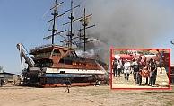 Katamaran alev alev yandı, can pazarı yaşandı