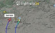 TK1920 sefer sayılı uçak ay yıldız çizmek için havalandı