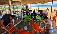 Alanya'da plajlarda hummalı çalışma