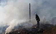 Alanya'da seraya sıçrayan yangın korkuttu
