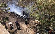 Alanya'da bahçede çıkan yangın korkuttu!